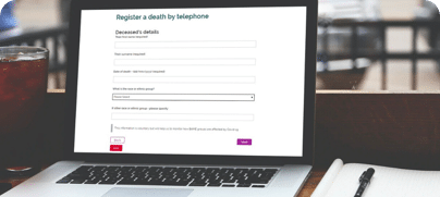 telephone death registration
