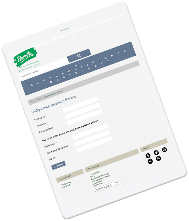 Appointment booking for Bromley Council